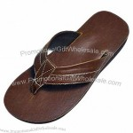 Brown Men's Casual Slipper with PU Leather Upper