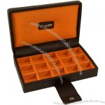 Brown & Orange Park Lane Cufflink Box