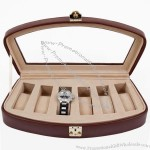 Brown Timeless Italian Leather Watch Box