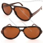 Brown Wood Polarized Sunglasses