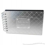 Brushed Silver Textured Photo Album