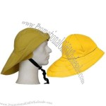 Bucket Style Waterproof Rain Hat with Convertible Brim and Extended Back Brim