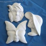 Butterfly, Calla Lilly, Hat Lady Ready to Paint Ceramic Pins or Pendants