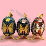 Butterfly Design Easter Egg Jewelry Box