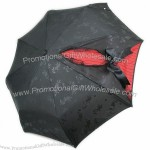 Butterfly Folding Umbrella Parasol Anti-UV Black and Red