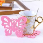 Butterfly Shaped Felt Coaster
