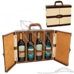 Cabana - Bermuda Insulated 4 Bottle Wine Case With Carry Handle