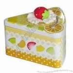 Cake Shaped Gift Tin Box