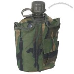 Camo Fabric Covered Canteen, 1 Qt.