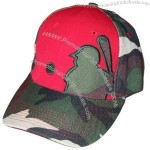 Camo Wool Acrylic Baseball Cap with Patch Embroidery