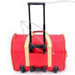 Canvas Pet Carrier Bag with Trolley Wheel