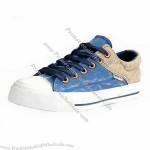 Canvas Shoe with Rubber Outsole, Fashionable and Comfortable Style