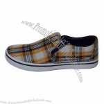 Canvas Shoes, Made of Canvas Upper and RB Outsole Materials