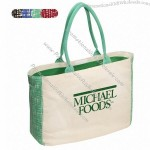 Canvas Tote With Gusset Accents