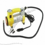 Car Air Compressor with 3m Cord and Cigarette Lighter Plug, 35L/Minute Flow Rate
