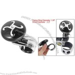 Car Auto Black Silver Tone Rhinestone Decor Steering Wheel Aid Knob