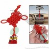 Car Auto Faux Jade Handmade Tassel Chinese Knot Ornament Red