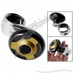 Car Black Gold Tone Steering Wheel Aid Knob Power Handle