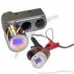 Car Cigarette Lighter with Eight Functions and Orange LED Background Light