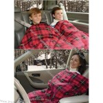 Car Cozy Heated Blanket with Timer — 12 Volt