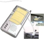 Car digital recorder with included chrome pen and memo pad