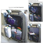 Car seat back bag with napkin case