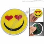 Car Yellow Black Red Smiling Face Emblem Badge Sticker