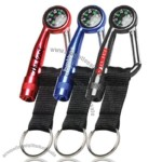 Carabiner With Compass & White LED Keylight