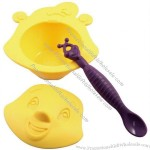 Cartoon Design Silicone Babies' Bowl, Eco-friendly and Easy-to-clean