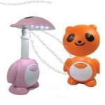 Cartoon Rechargeable Desk Lamp with Clock