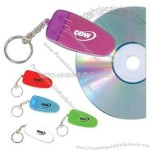 CD cleaners with keychain