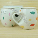 Ceramic Cup With A Heart-Shaped Handle