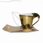Ceramic Electroplating Gold Cup and Saucer