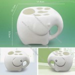 Ceramic Elephant Toothbrush and Toothpaste Holder