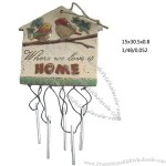 Ceramic Garden Plaque with Wind Chime