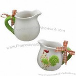Ceramic Milk Cups, Cock Design, Easter Decoration and Gift