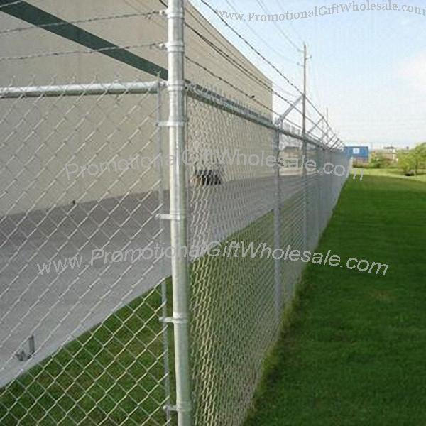 Chain link fence diamond wire mesh printing logo