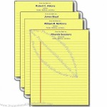 Change-a-Name, Legal Pads - Notepad Binding. 50 sheets
