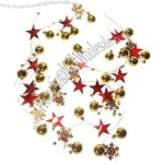 Charming Gold Balls and Red Star String Christmas Tree Ornament