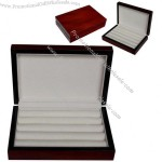 Cherry Lacquer Cufflink & Ring Storage Case Organizer Cuff Mens Fathers Gift Box