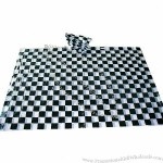 Chessboard Disposable PE Rain Poncho