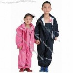 Children raincoat strap luminous type