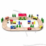 Children's Funny Wooden Train Set