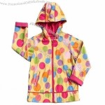 Children's PU Raincoat with 100% Polyester Lining