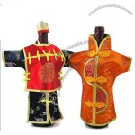 Chinese Dress Wine Bottle Covers