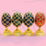 Chinese Handicraft Metal Jewelry Box Easter Egg