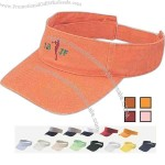 Chino washed low rise visor with velcro strap