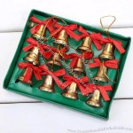 Christmas Bells Pendant With Red Bow