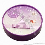Christmas Chocolate Purple Gift Round Box