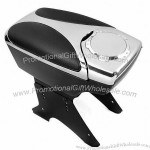Chrome Center Console Armrest Box w/ Two Hided Cup Holders for Camry Cruze Jetta Bora Golf SX4 Swift Mazda 3 5 6 CL CLK ML Mini Lancer Evo A4 A5 A6 Yaris Range Rover Mustang GTI Series Passat aveo santa fe Q5 Q7 X3 X6 M Yukon Accord Civic Versa Fit Coroll